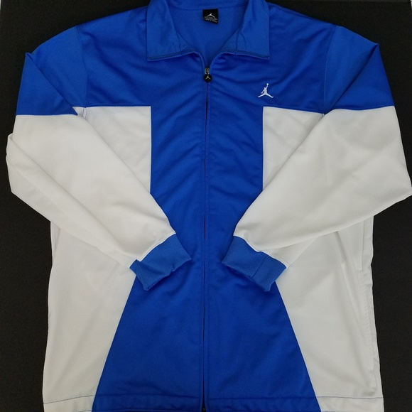 4743e032f3f7 Air Jordan Track Jacket Mens XXL Blue White